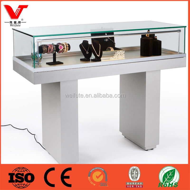 China Supplier glass jewelry display table