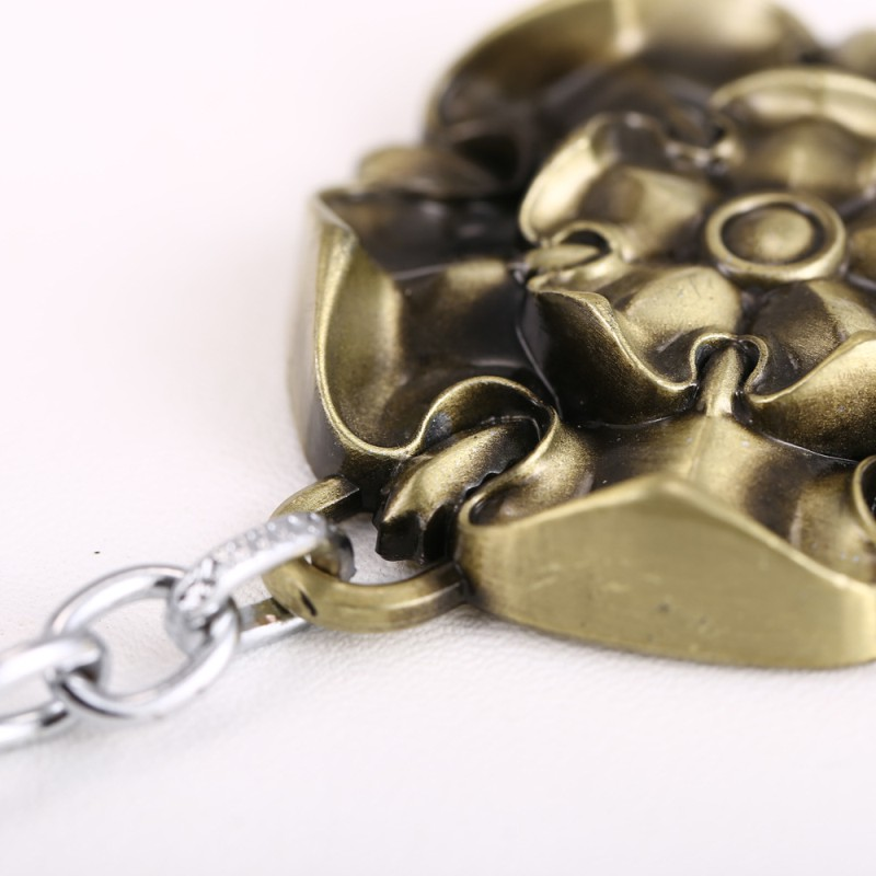 Metal color rose keychain in stock for sales