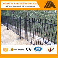 AJLY-912 Alibaba gold supplier high quality used aluminum fence,black aluminum fence