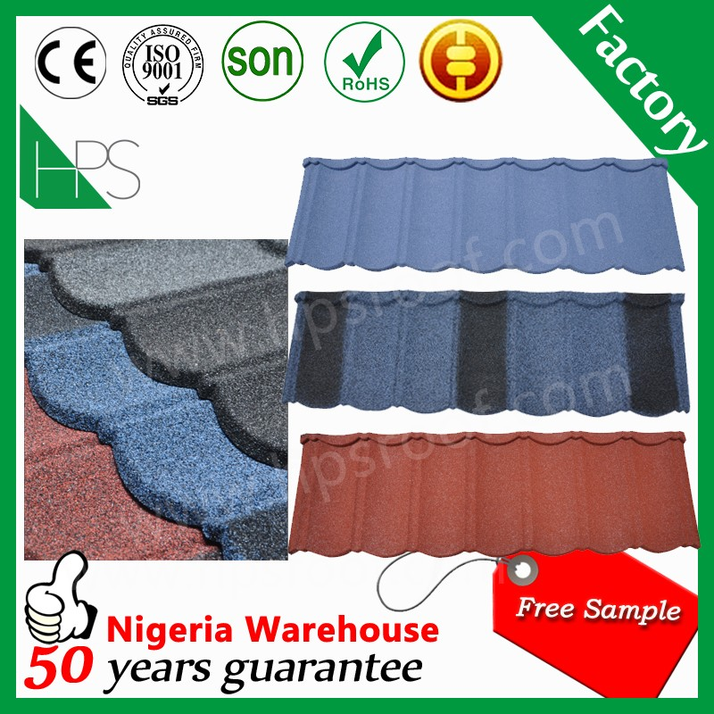 Cheap price with high quality imitation roof tiles color sand coated roof tile