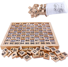 Preschool Equipment 1-100 number blocks montessori toy