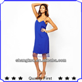 ODM&OEM manufacture fashion women chiffon mesh insert designer dress women sexy evening dress backless party dress