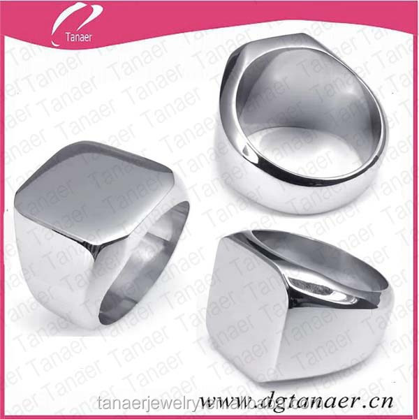 Stainless steel custom index new design finger ring