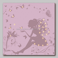 fancy fairy canvas LED wall art lighted canvas pictures led picture frame