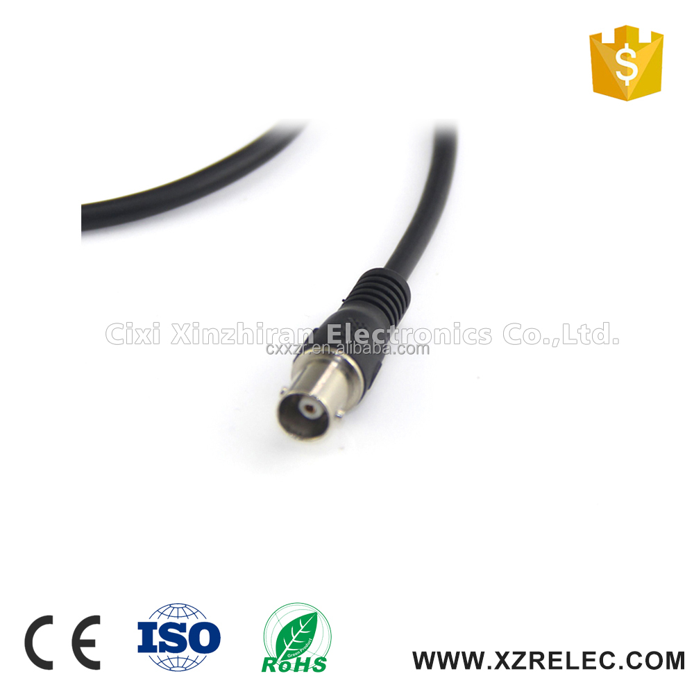 PVC Jacket 75OHM male to male rg58 /rg59 coaxial cable