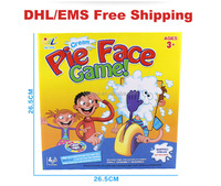 DHL free shipping Pie Face Parent-child Games Cream On Her Face Hit The Send Machine Paternity Toy Catapult Game Prank Joke