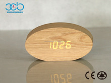 Sound controlled LED Digital wooden Alarm Clock