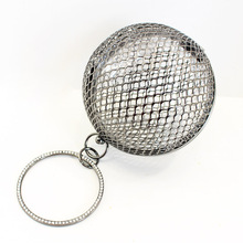 CLARITY CAGE SPHERE BALL BAG METAL WRISTLET