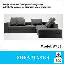 L Shape fabric corner sofa for living room furniture SY06