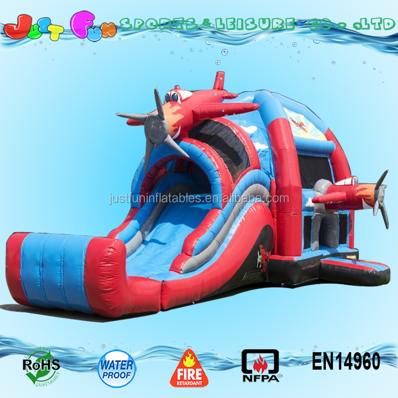 Best quality inflatable combos water slides China industrial inflatable water slide airplane inflatable slide