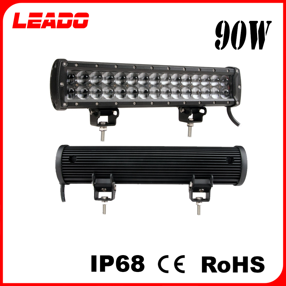Wholesale price 12V input 4x4 light led bar with stainless steel mounting bracket