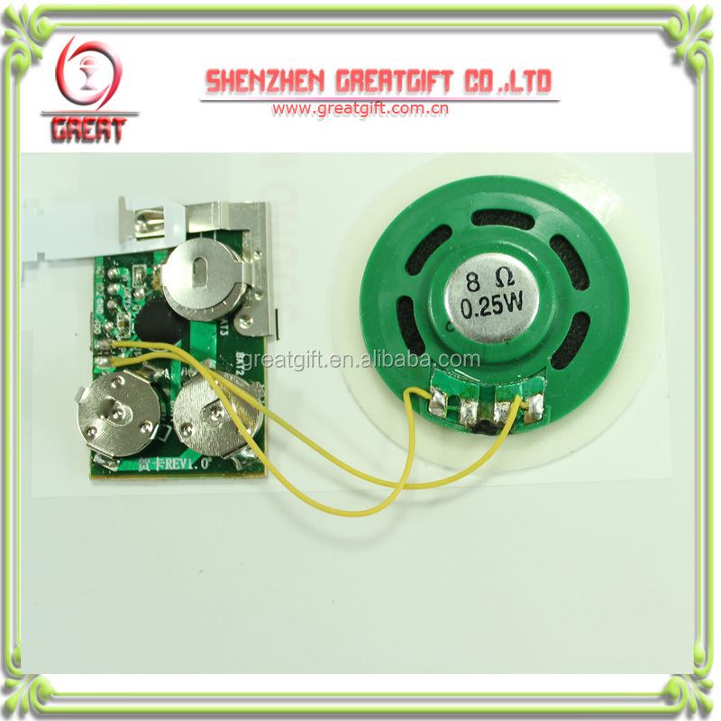 recordable sound module for greeting cards greeting card voice recorder module