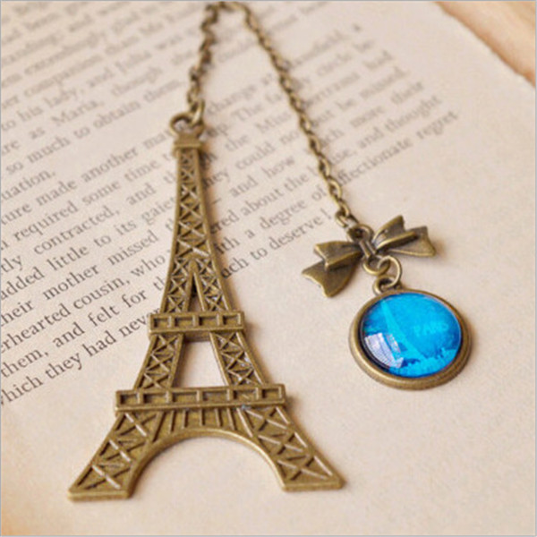 New Arrival Vintage Eiffel Tower Metal Bookmarks For Book Creative Item Kids Gift Korean Stationery