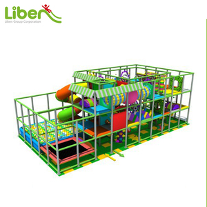 Large Children Indoor Playground Jungle Theme Indoor Soft Mazes with Spiral Slide