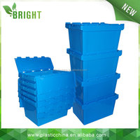 Industrial plastic perforated hinged box