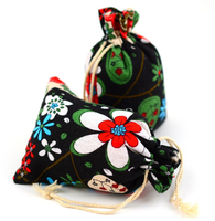 Sublimation flower small jute drawstring pouch bag with low price
