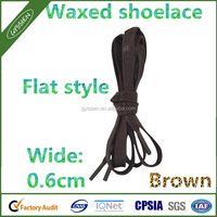 FLAT WAXED Sport Cotton Shoelaces Sneakers Colored Shoe Laces Boot