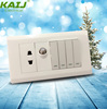 pakistan wall electrical 4 gang switch one satellite socket
