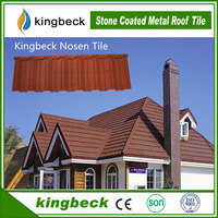 One-stop Roofing Material Supplier Kingbeck Colorful Stone Coated Metal Roofing Sheet