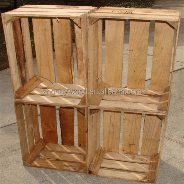 FSC factory wood vegetable crates wooden fruit crates