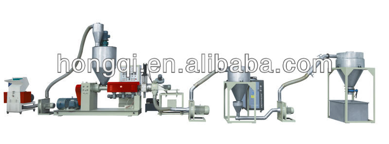 used wind-cooling hot-cutting plastic recycling granulating machine