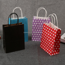 Luxury shopping purple paper bags