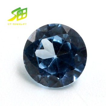 round shape synthetic spinel #106 blue color gemstone