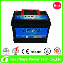 Sealed maintenance free lead acid 12 V 62AH global car battery