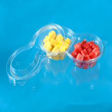 Wholesale New Premium Disposable Plastic Fruit Salad Packing Bowl with Lid & Fork