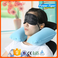 2015 fashion u shape inflatabe travel neck pillow