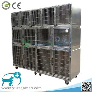 veterinary hospital vet clinic stainless steel customized large dog cage