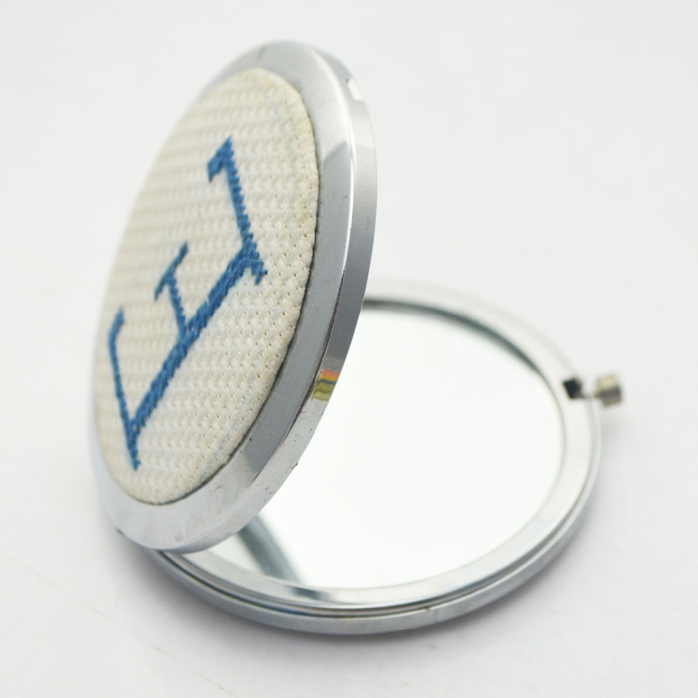 high quality wholesale folding round make up zinc making metal frame mirror