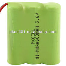 NI-MH AAA 600mah battery pack with 3.6V