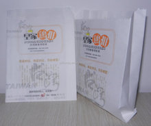 fast food paper bag for fried chicken greasproof paper bag