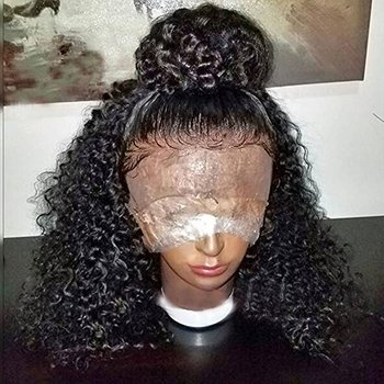 Kinky curly real human hair wigs for black women no synthetic,African brazilian women hair wig lace,wholesale weave and wigs