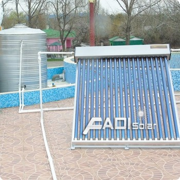 Solar Water Heater Project in Russia (2 tons)