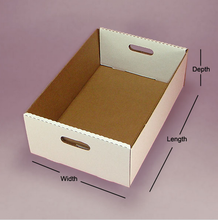 Rectangular Corrugated cardboard Tote Tray