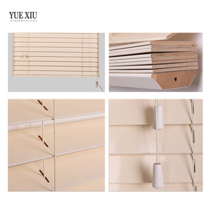 High Quality White Basswood Round Windows venetian Blinds and curtains
