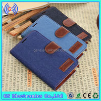 wholesale Alibaba flip cover denim jeans case for samsung i9295 galaxy s4 active