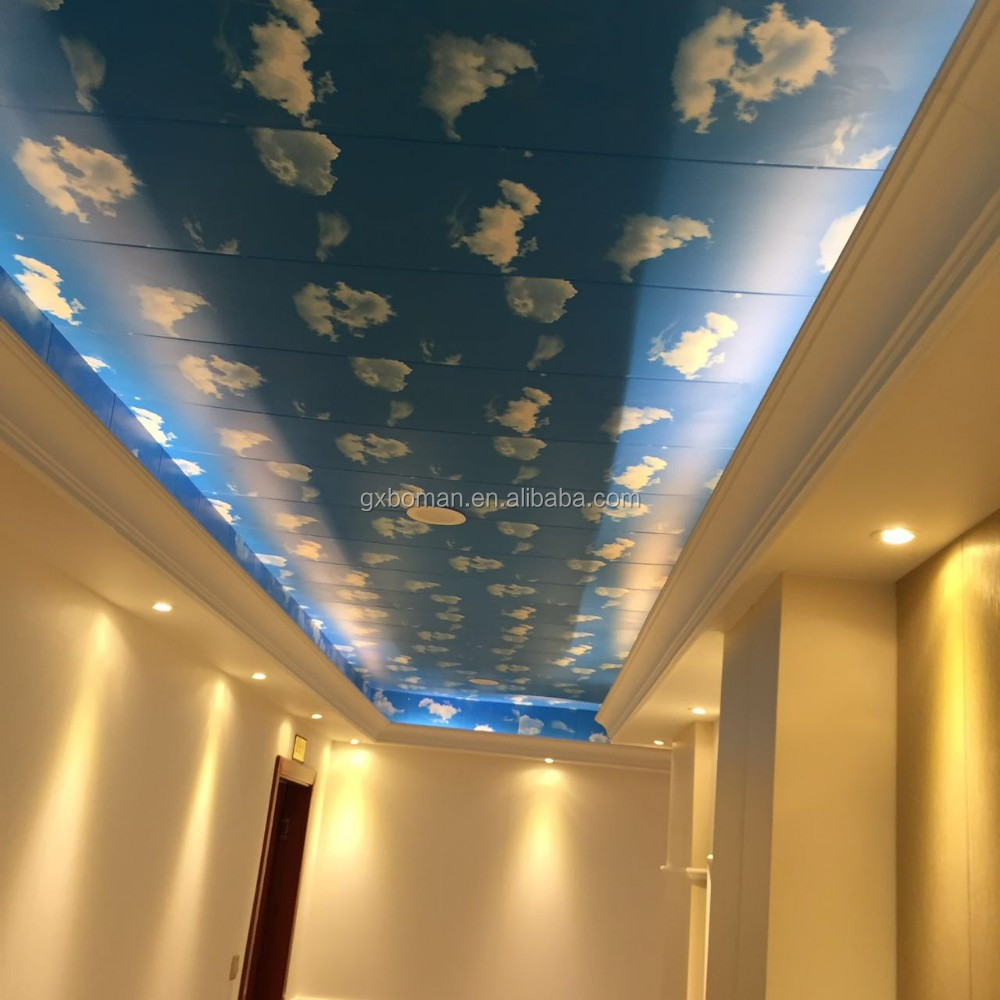 cost-efficient!! Wood plastic bamboo wallpaper / 3d UV printing bamboo ceiling panels