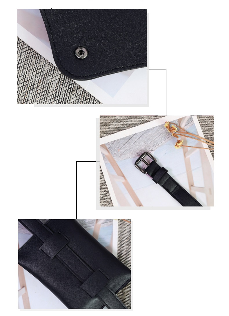 High quality Fashion PU women leather Removeable Belt  mini Fanny pack Waist Bag