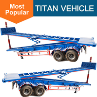 2 Axle 3 axle 40ft dump tipper tipping container chassis semi trailer for sale
