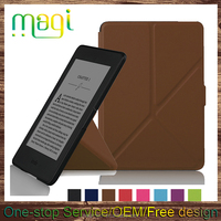 For Kindle Paperwhite case factory custom Leather Skin magnetic Flip smart Cover case For Amazon