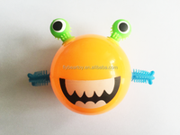 5.5cm 7cm TPU Flashing frog monster squishy puffer frog toy TPR puffer ball