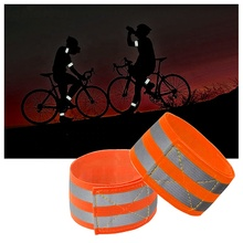 Tourbon Cycling Bike <strong>Safety</strong> Tape Straps Bicycle Pants Clip Reflective Bands for Arm LEG