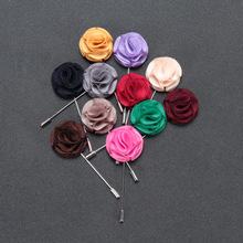 High quality decoration men suits rose flower brooch pin