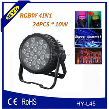24pcs x 10w rgbw 4in1 led waterproof par light, 10w high power led diode
