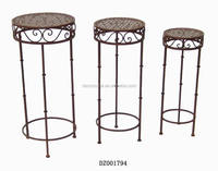 Antique Metal Folding Indoor Plants Stands