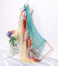 large size printed 100% polyester beach scarf shawl