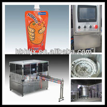 Full automatic liquid filling machine for packing Coconut water in Doypack or standing bag with spout and screw cap